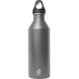 MIZU M8 Bottle with Grey Loop Cap 800ml Enduro Grey